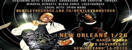 BENTLEY GANG TOUR NEW ORLEANS 2020